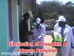 Distribution of Prasadam and Educare Pamphlet