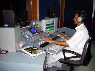 AUDIO RECORDING CONTROL ROOM